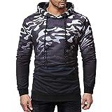 NRUTUP Men's Camouflage Hoodie Full-Zip Sweatshirt Hooded Top Long Sleeve Tee Blouse, Cheap!