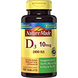 nature made d3 400iu - Nature Made Vitamin D3 400 IU Tablets 100 Ct (Packaging may vary)