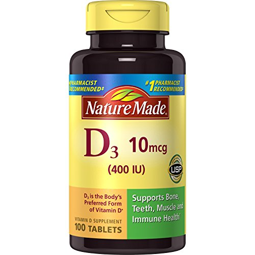 Nature Made Vitamin D3 400 IU Tablets, 100 Ct