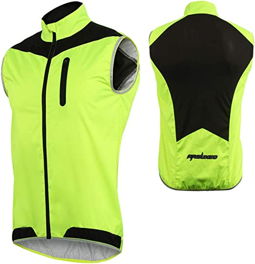 SWTGRPI Hombres Mujeres Chaleco de Ciclismo Chaleco Impermeable a ...
