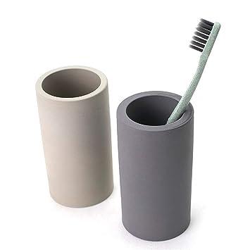 CAI&HONG-Daily GHH Cepillo de Dientes casero de la diatomea Taza rápida del Cepillo de