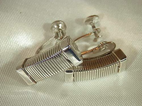Vintage 1950's Coro Signed Machine Age Modernist Screw Back Earrings