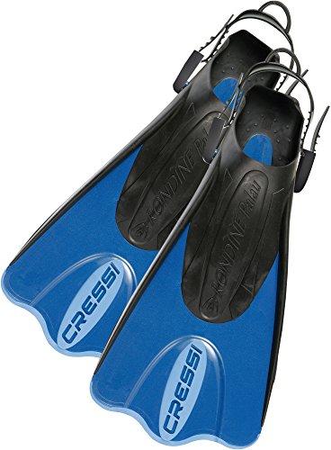 Cressi Palau (SAF) Short Adjustable fins - Blue - Small/Medium