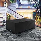 Neverland Rectangular Patio Table Cover Waterproof & UV-Resistant Outdoor Dining Table Chair Set Garden Rattan Furniture Cover Size 67L x 38W x 27H inch