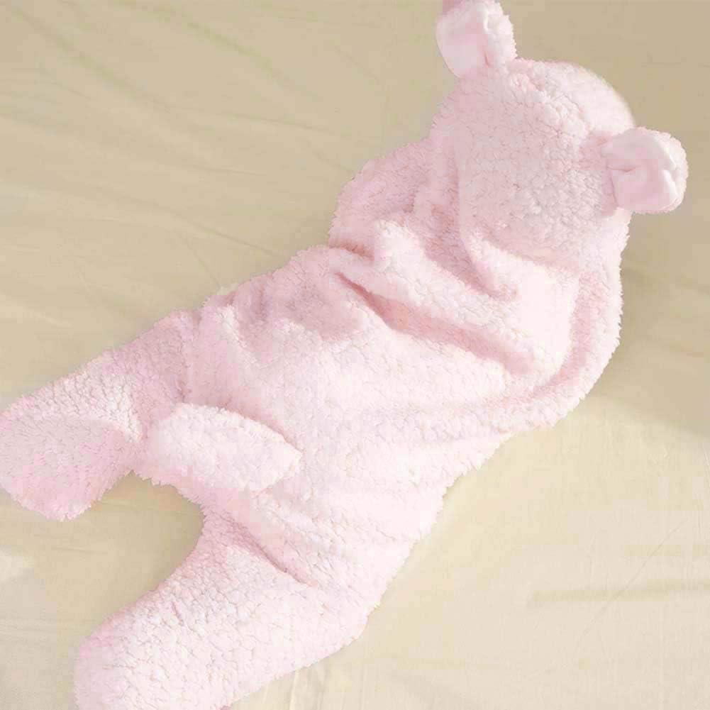 saco de dormir rosa rosa Manta para beb/é reci/én nacido manta de forro polar para beb/é