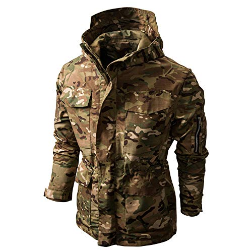 SFYZY Hoodie Veste Sweat Lourd Camouflage Zipper Workerhoodie Pull Veste Tactique Militaire Outdoor Randonnée Chasse… 2
