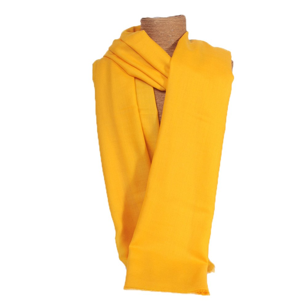 Women's Spring Autumn Summer New Style High Quality Woolen Shawl High Density Shawl Yellow by YSW