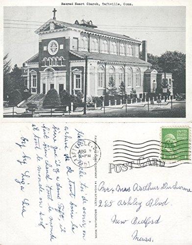 TAFTVILLE CT SACRED HEART CHURCH 1951 VINTAGE POSTCARD
