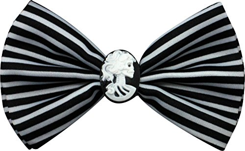 Enimay Halloween Pre-Tied Bow Ties Lady Cameo Black White