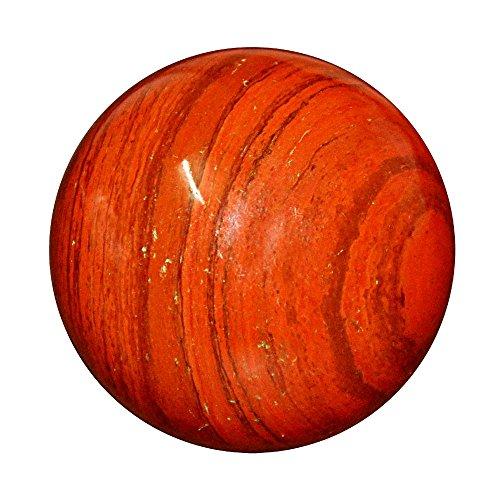Satyamani Red Jasper Gemstone Sphere-Ball For Reiki Chakra Vasstu Space Healing(301 gm-400 gm) by Satyamani