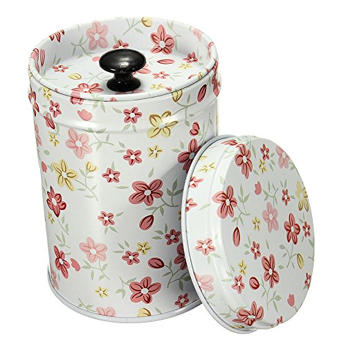 Mwfus Vintage Double Cover Tea Caddy Box Container Food Storage Tin Boxes Case Canisters & Jars (Tea Container Box compare prices)