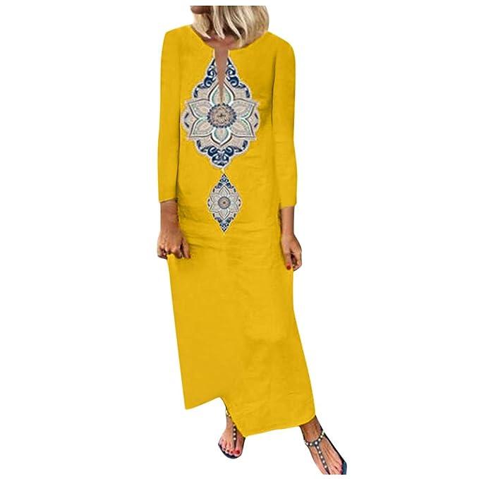 Poachers Vestidos Mujer Talla Grande Estampado Vestidos de ...