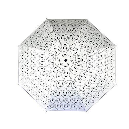 HULKAY Upgrade Ribs Auto Open/Close Windproof Umbrella Waterproof Travel,Portable Umbrellas With Ergonomic Handle(White) by HULKAY (Image #2)