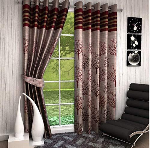 Home Utsav 2 Piece Jute Blackout Heavy Curtains for Door 7 Feet, Maroon (Maroon, Door 7 Feet) (B07P7CH72M) Amazon Price History, Amazon Price Tracker