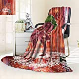 Heavy Blanket Winter Indian Elephant God Dancing Rocking The Dance Floor its Meditating Moves Print,Silky Soft,Anti-Static,2 Ply Thick Blanket. (90''x108'')