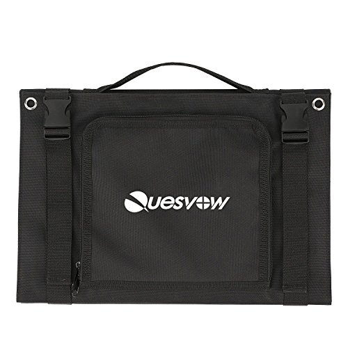 Quesvow Solar Charger 80W Portable Solar Panel Foldable High Efficiency 5V USB 18V DC Dual Output Charger for EasyFocus 500W or 300W Solar Generator,Laptop Tablet GPS iPhone iPad Other 5-18V Device by Quesvow (Image #2)