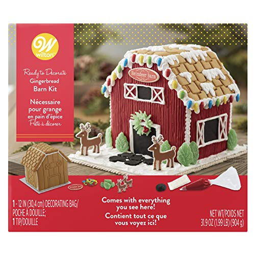 Wilton Ready-to-Decorate Gingerbread Barn Decorating Kit