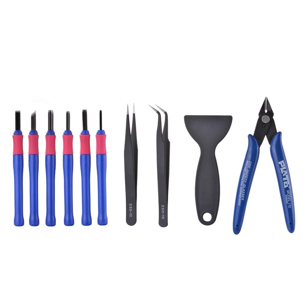 XCSOURCE 10pcs 3D Printer Accessories Clipper Tweezers Spade Repair Cutter Tool Set for Model Deburring Clean-up TE1065