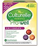 Culturelle Pro-Well 3-in-1 Complete Daily Formula, Once Per Day Dietary Supplement, Contains 100% Lactobacillus GG –The Most Clinically Studied Probiotic, Plus Omega 3\s, 30 Count