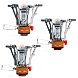 PARTYSAVING [3-Pack Collapsible Mini Camping Stove Pocket...