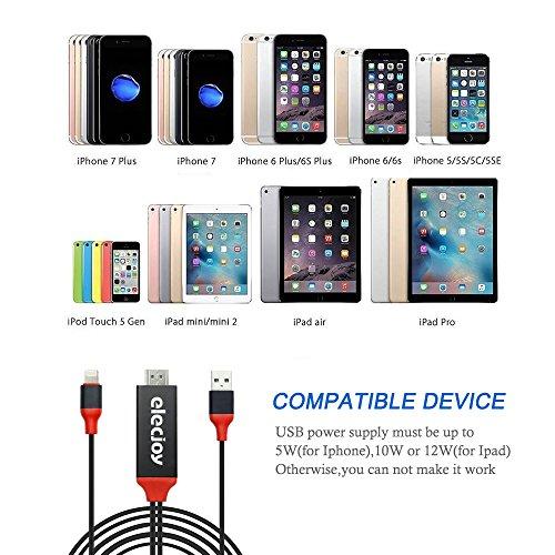 Cable Adaptador Lightning a HDMI, 6.6ft 1080P Cable HDMI HDMI Video ...