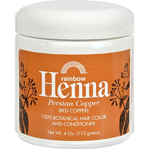 Rainbow Research Henna Hair Color and Conditioner Persian Copper, 4 oz., Red