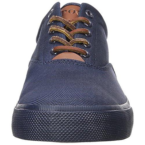 2f3886b782818 new Polo Ralph Lauren Vaughn SK VLC Navy Pique Nylon Leather Fashion Sneaker