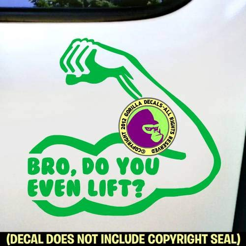 Bodybuilder Vinyl Decal Sticker B BRO DO YOU EVEN LIFT