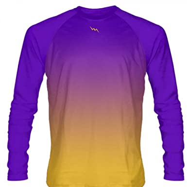 Amazon Com Lightningwear Purple Gold Fade Ombre Long Sleeve Shirts