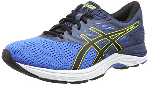Asics Gel-Flux 5, Scarpe da Running Uomo Multicolore (Directoire Blue/Black/Safety Yellow 4390)