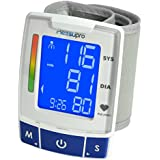 MeasuPro Easy Read Automatic Digital Wrist Blood Pressure Monitor with Heart Rate Detection, Two User Modes, Memory Recall and Large Backlit LCD Display