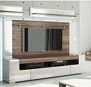 Amazon Com Toronto Tv Cabinet With Wall Panel Large