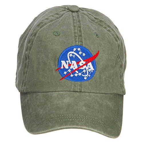 - e4Hats.com NASA Insignia Embroidered Washed Cap - Olive OSFM