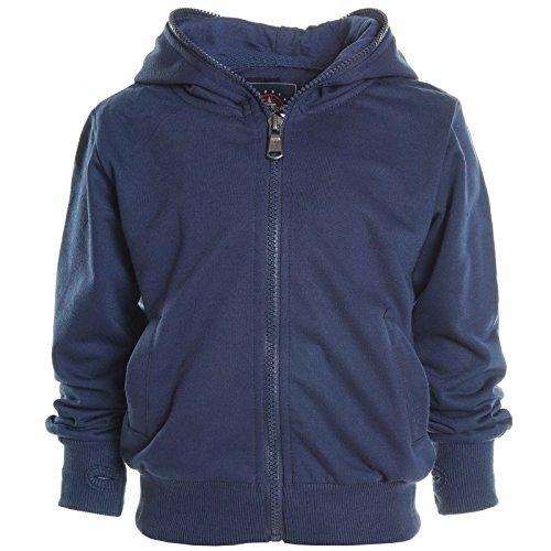 Kinder Kapuzen Pullover Hoodie Sweat Shirt Jacke Rollkrakgen Herbst Winter 20568, Farbe:Blau;Größe:140