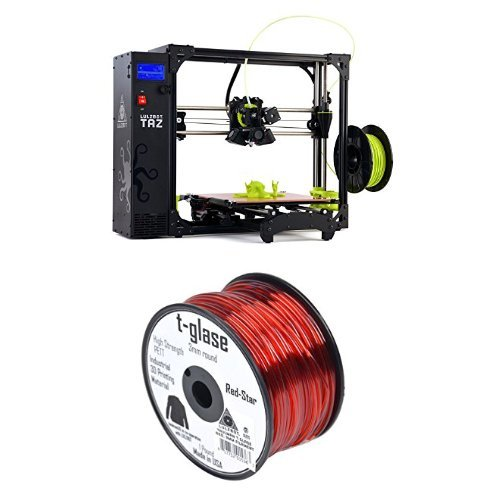 LulzBot-TAZ-6-3D-Printer-with-Taulman-T-Glase-PET-3D-Printer-Filament-1-lb-Reel-3-mm-Red
