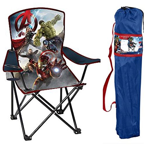 Man Cave Chairs With Cup Holder : Avengers marvel age of ultron child s folding camping