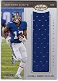 #7: ODell Beckham Jr. 2017 Panini Certified Fabric of the Game Jumbo Jersey Serial #74/99 New York Giants