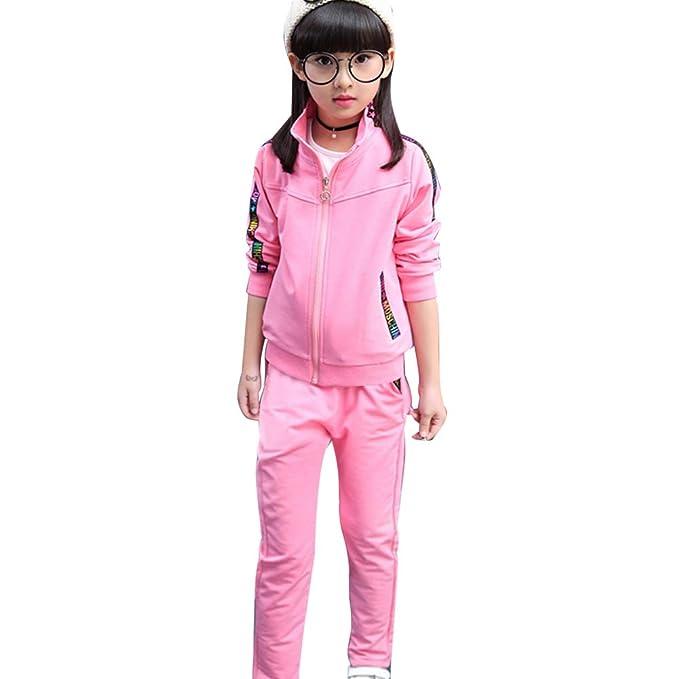 Jogginghose SXSHUN M/ädchen Jogginganzug Kinder Sportanzug Trainingsanzug 2tlg Bekleidungsset Sweatjacke