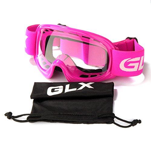 GLX Motocross Helmet Pink+Goggles+Gloves