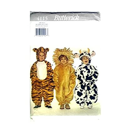 Amazon Butterick Sewing Pattern 4115 Toddler Costumes Tiger