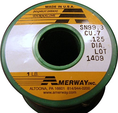 (Amerway Tourmaline Lead Free Solder for Stained Glass, 1 Pound Spool )