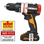 Worx-WX354-Trapano-a-percussione-Brushless-Slamer-20-V-20-Ah-2-mazze-nero