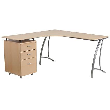 Mesa de ordenador con cajones -