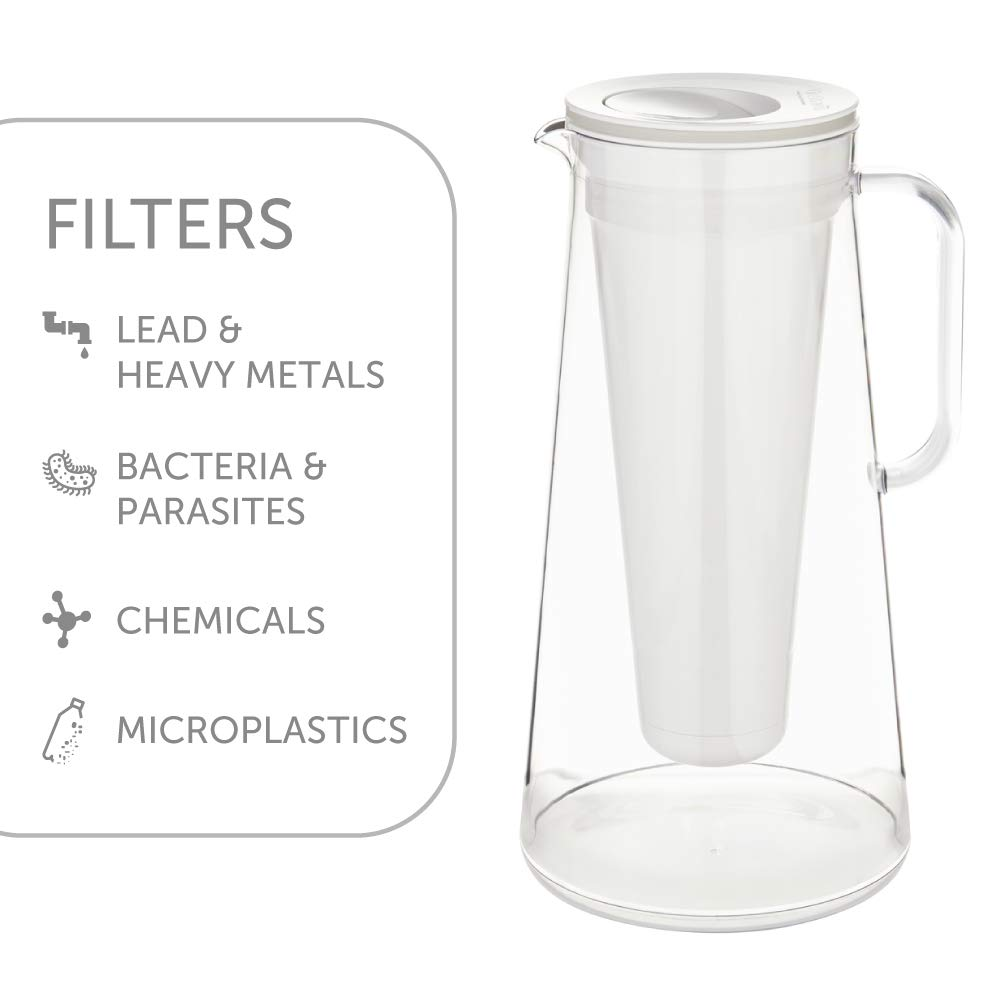 LifeStraw Home 7-Cup Water Filter Pitcher Tested to Protect Against Bacteria, Parasites, Microplastics, Lead, Mercury, and a Variety of Chemicals