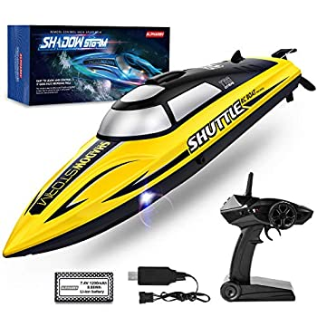 RC Boat- AlphaRev R208 20+ MPH Quick Distant Management Boat for Swimming pools and Lakes, RC Boats for Adults and Children
