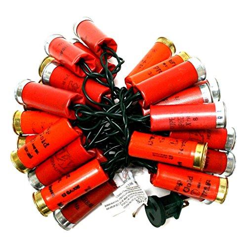 More Than Christmas 10038 - 35 Light Red Shotgun Shell String Set - Lights Shotgun Shell Christmas