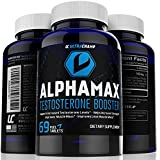 Alphamax Testosterone Booster Supplement for Men - Sculpt Lean Muscle & Supercharge Sex Drive - Includes FREE Ebook & Skype Session With Personal Trainer - Powerful Uncoated Pills Infused With Potent Premium Quality Ingredients for Maximum Support - 100% No-Hassle Money-Back Guarantee