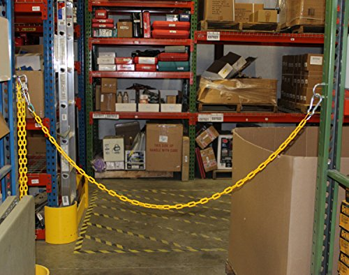 Bob's | Plastic Chain Links in White – 125' Feet Long – White Chain for Crowd Control, Halloween Chains, Prop Chains by Bob's Industrial Supply (Image #1)
