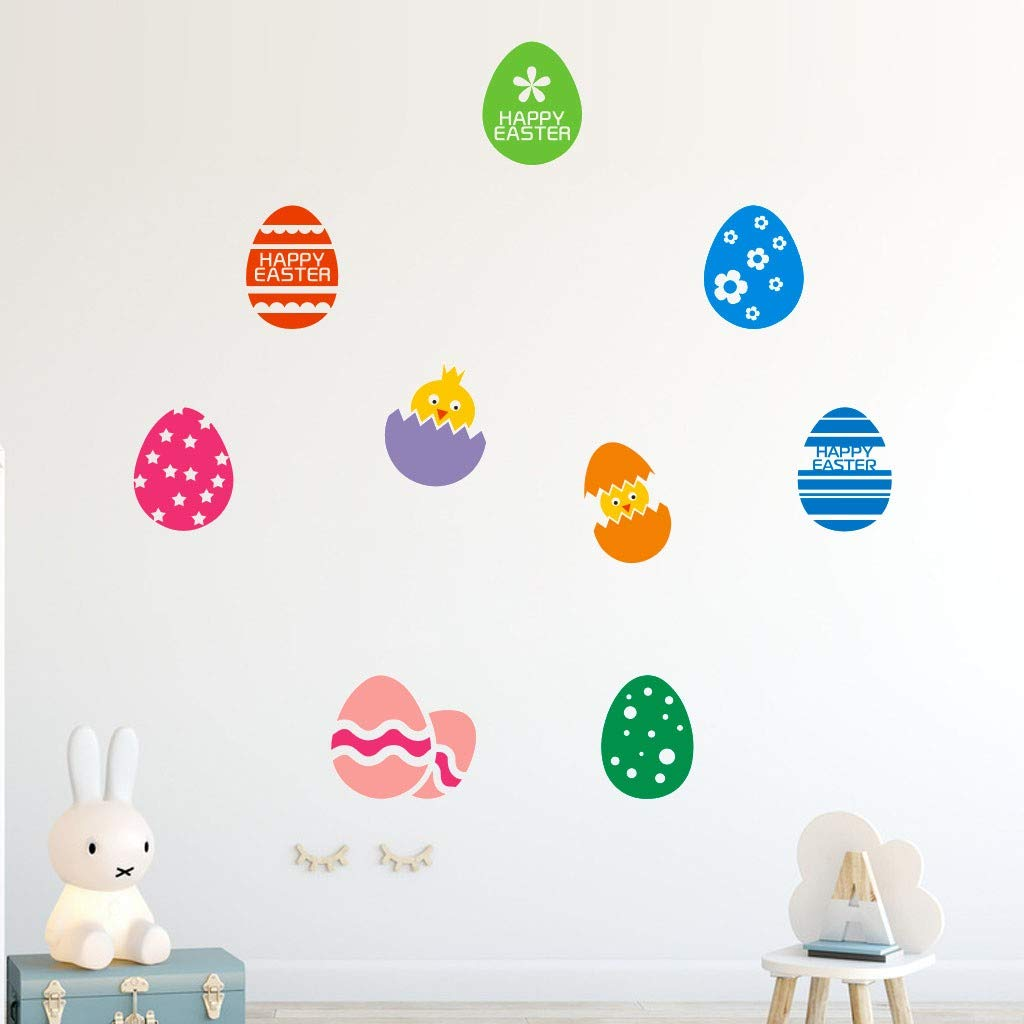 Wall Decals Clearance , Happy Easter Rabbit Vinyl Decal Art Wall Sticker DIY Home Room Decor  by Little Story by Little Story (Image #3)