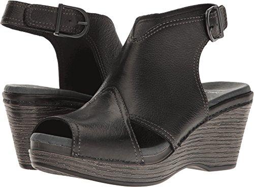 Dansko Womens Vanda Ankle Bootie  Black Distressed  38 Eu 7 5 8 M Us